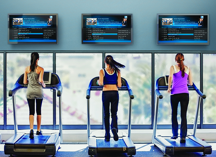 Satellite TV for Gyms and Shops