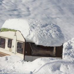 Snow covered RV