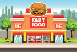 Fast Food Restaurant with DIRECTV