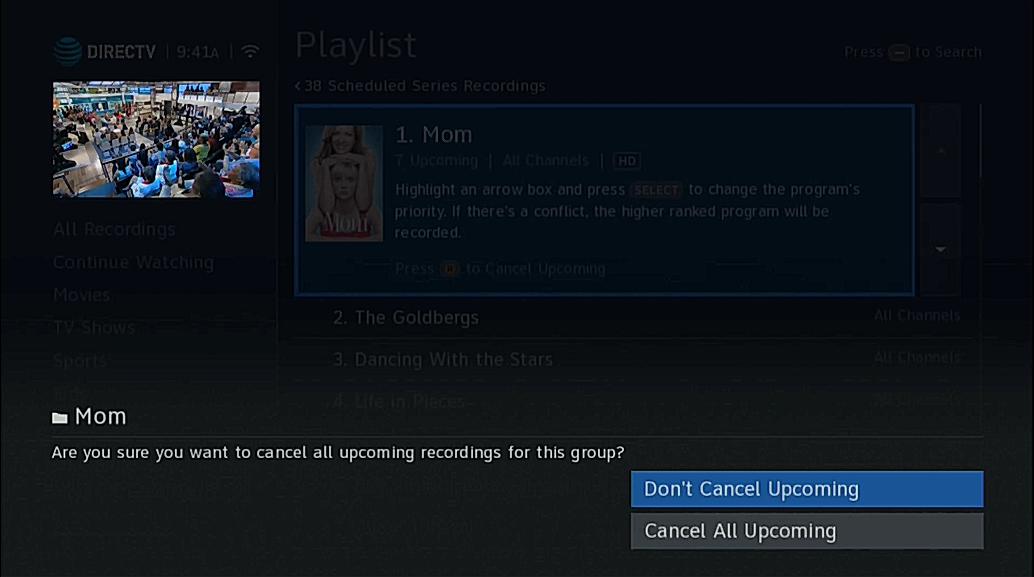 How To Clean Out Your DIRECTV DVR's Series Manager - Signal
