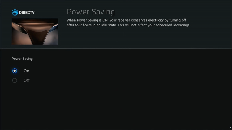 DIRECTV Genie Power Save Step 4