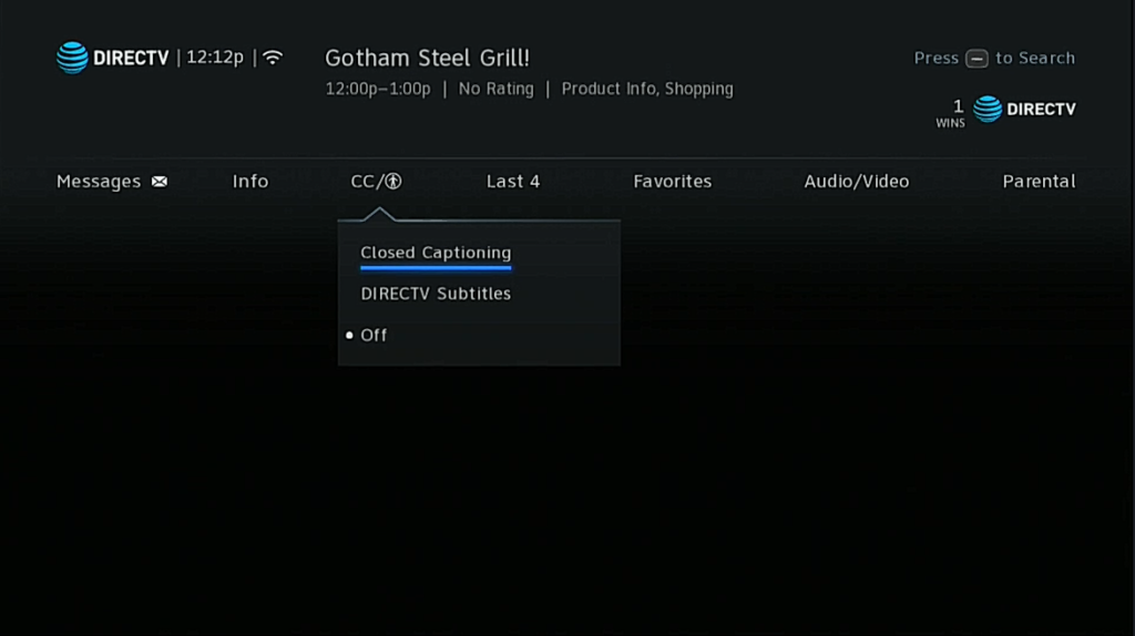 Directv Technical Support How To Enable Closed Captioning New Menus Signal Connect