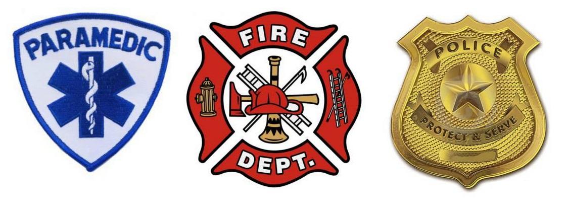 Police Fire EMS Logos